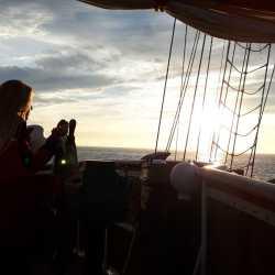 Hanna segelt über den Atlantik