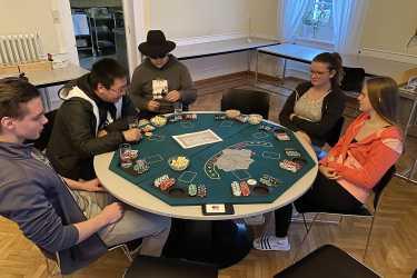 Historischer Speisesaal wird für einen Abend zum Poker-Club